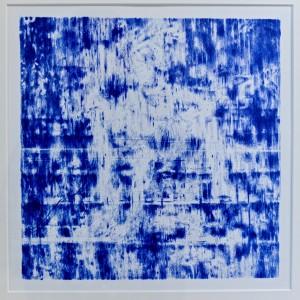 Sibylle Springer, Taylor Wood, Self Pietà, 2014, Blaipausenzeichnung 26 x 26,9 cm